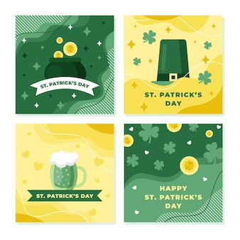 St. patrick's day instagram posts-collectie