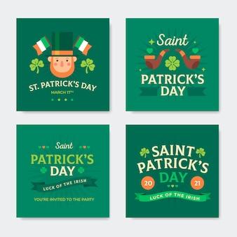 St. patrick's day instagram posts-collectie
