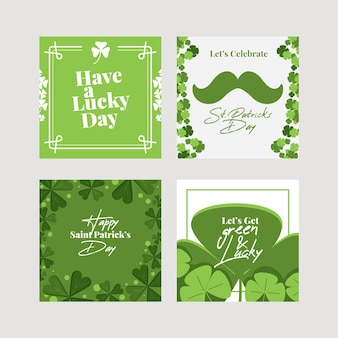 St. patrick's day instagram posts pack