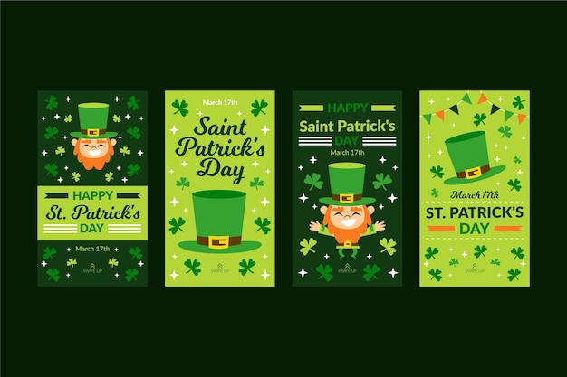 St. patrick's day instagram-verhalen instellen