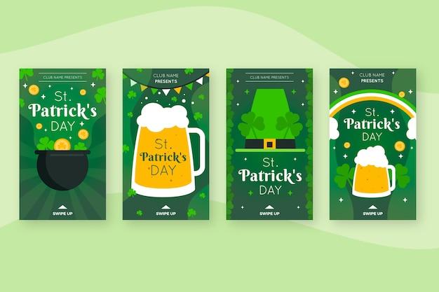 St. patrick's day instagram-verhalen met bier