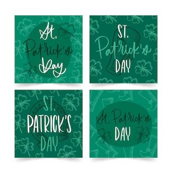 St. patrick's day instagram-verhalen met letters