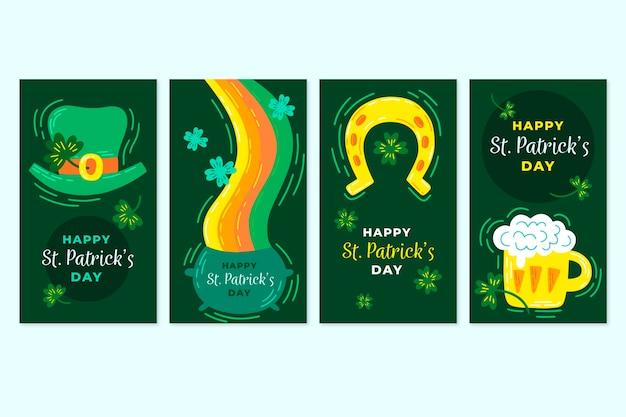 St. patrick's day instagram-verhalencollectie