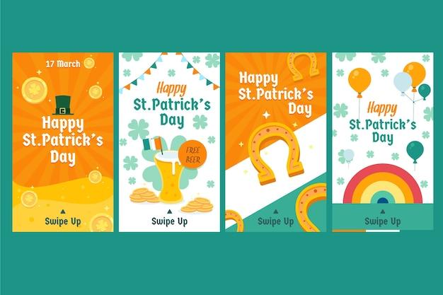 St. patrick's day instagram-verhalenpakket