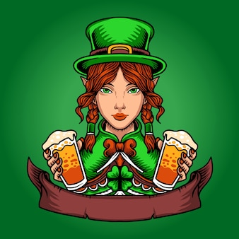 St patrick's day kabouter vrouw