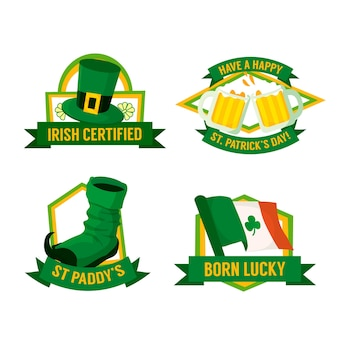 St. patrick's day label collectie