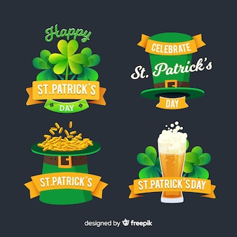 St. patrick's day labelcollectie