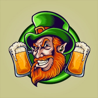 St patrick's day mascotte illustratie