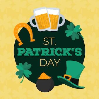 St. patrick's day met hoge hoed en bier