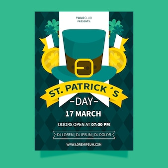 St. patrick's day met ierse cilinderhoed en linten