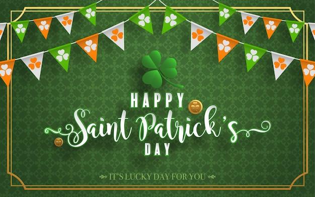 St.patrick's day met knipsel in ambachtelijke stijl