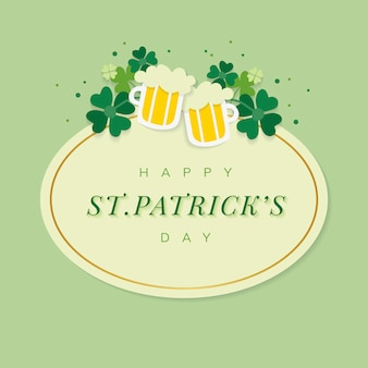 St.patrick's day ovale badge vector