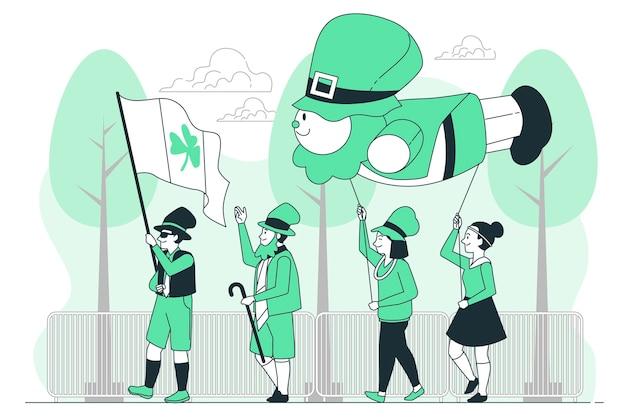 St. patrick's day parade concept illustratie
