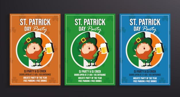 St patrick's day partij flyer sjabloon