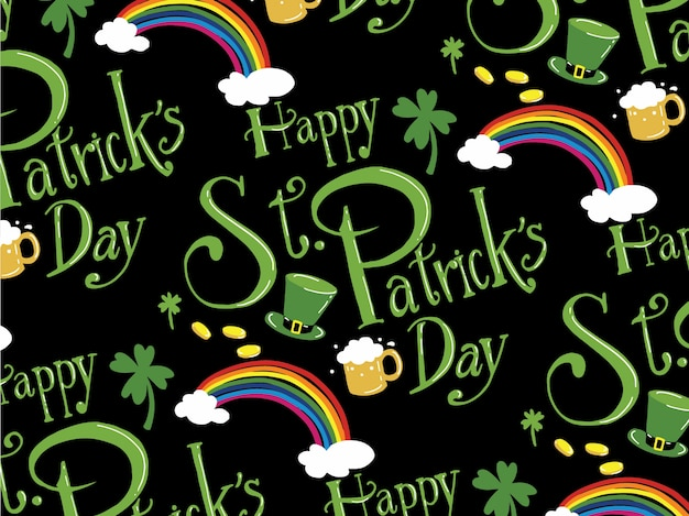 St.patrick's day patroon vector.