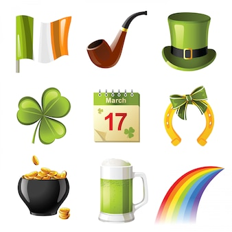 St. patrick's day pictogrammen
