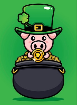 St. patrick's day pig kabouter