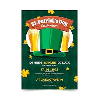 St. patrick's day poster afdruksjabloon