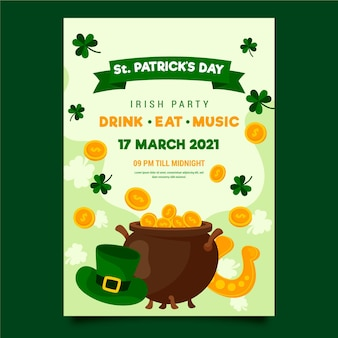 St. patrick's day poster sjabloon