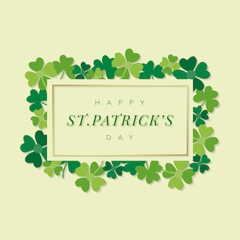 St.patrick's day rechthoek banner vector