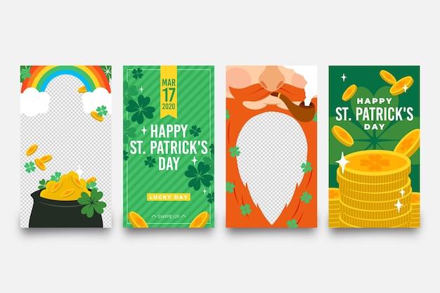 St. patrick's day set instagram-verhalen