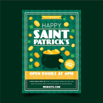 St. patrick's day verticale poster sjabloon