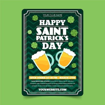 St. patrick's day verticale poster
