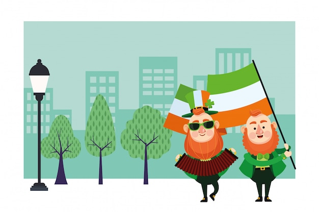 St patricks dag elf cartoons