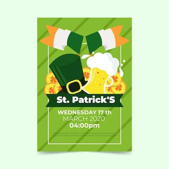 St. patricks dag folder sjabloon