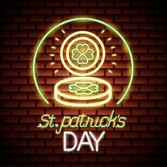 St patricks dag neon
