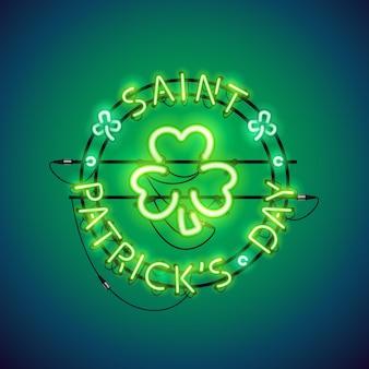 St patricks day neonreclame