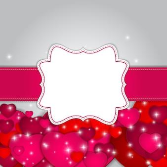 St valentijnsdag wenskaart