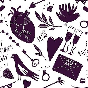 St valentine day naadloos patroon.
