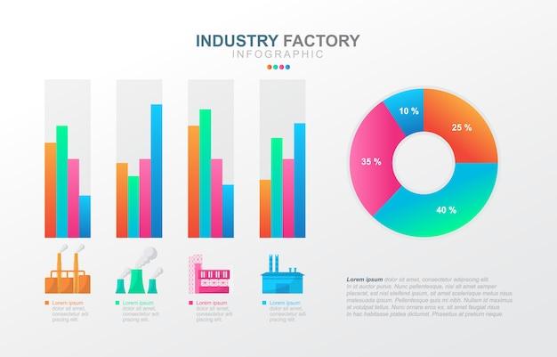 Staafdiagram grafiek diagram financiële analyse statistische fabriek industriële zaken infographic