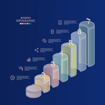Staafdiagram infographics voor bedrijfsconcept.