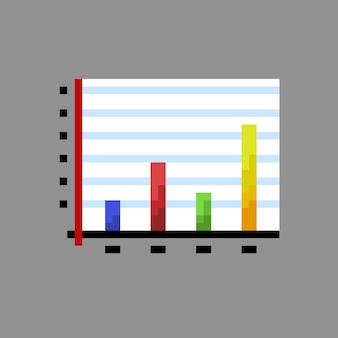 Staafdiagram met pixelart-stijl