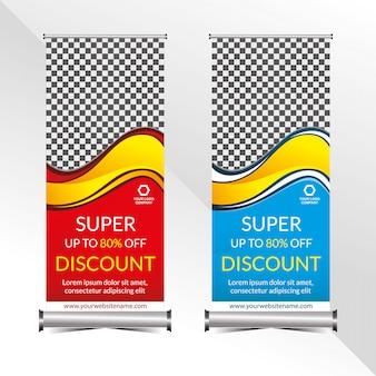 Staande banner promotie sjabloon super speciale korting aanbieding verkoop