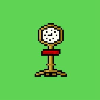 Staande klok met pixelkunststijl