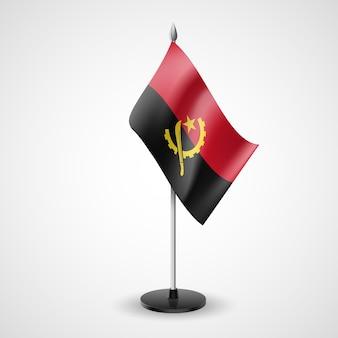Staatstabelvlag van het nationale symbool van angola