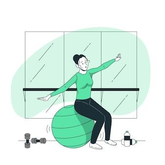 Stabiliteit bal concept illustratie