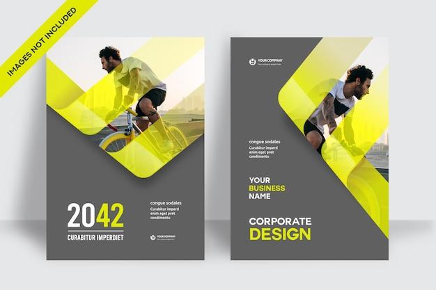 Stad achtergrond business boekomslag ontwerpsjabloon in a4. kan worden aangepast aan brochure, jaarverslag, tijdschrift, poster, bedrijfspresentatie, portfolio, flyer, banner, website.