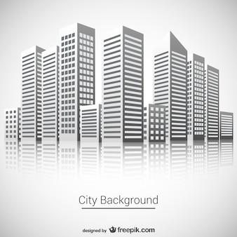 Stad achtergrond vector