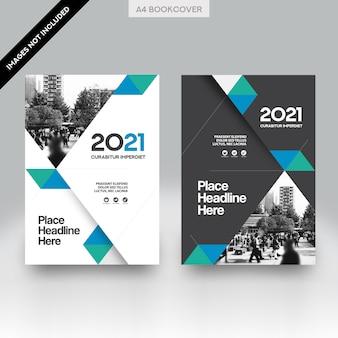 Stad achtergrond zakelijke boek cover ontwerp vector sjabloon