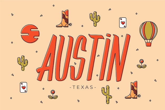 Stad belettering austin concept
