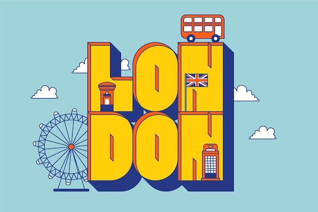 Stad belettering met londond concept
