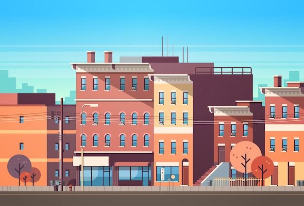 Stad gebouw huizen bekijken skyline achtergrond