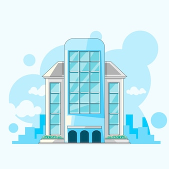 Stad gebouw plat vectorontwerp