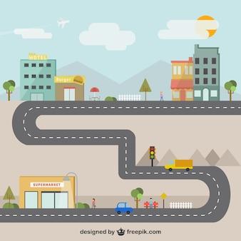 Stad illustratie