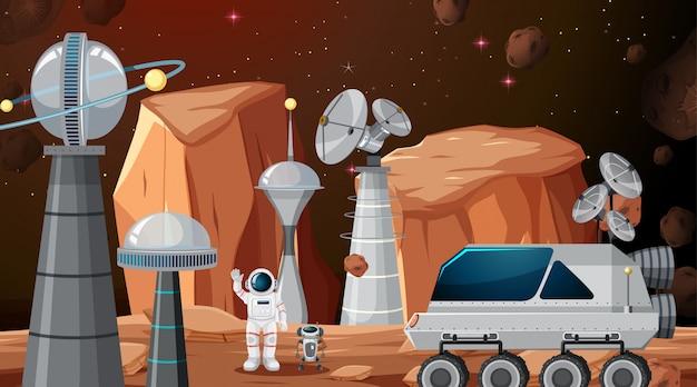 Stad in ruimtescène of achtergrond