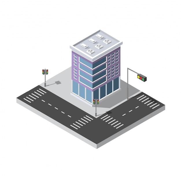 Stad isometrisch concept van stedelijke infrastructuur bedrijf